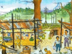 空襲体験者が描いた絵画